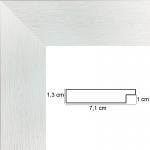 Encadrement sur Mesure Plat Blanc strié 7,1 cm