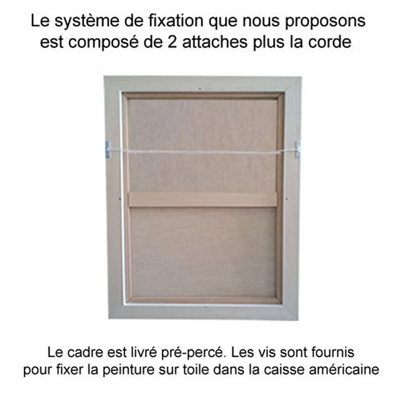 cadre caisse americaine plomb sur mesure sur cadre toile. Black Bedroom Furniture Sets. Home Design Ideas