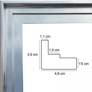 cadre caisse americaine argent sur mesure sur cadre toile. Black Bedroom Furniture Sets. Home Design Ideas