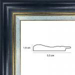 Hauteur: 34.5 Largeur: 26 Ajoutez un plexiglas et un dos médium: Non Sens d\\\'accroche du cadre: Vertical