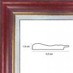 Hauteur: 0.61 Largeur: 0.46 Ajoutez un plexiglas et un dos médium: Non Sens d\\\'accroche du cadre: Vertical
