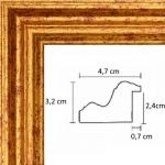 Cadre Renaissance Or 4,7 cm