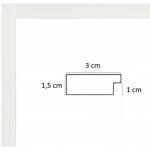Encadrement sur Mesure Plat Blanc 3 cm