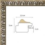 Cadre argent antique