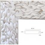 Cadre blanc mat décapé