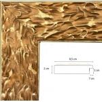 Cadre doré brillant fond mat