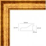 Cadre Renaissance Or 6,9 cm