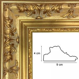 cadre sur mesure style regence or vente en ligne sur cadre toile. Black Bedroom Furniture Sets. Home Design Ideas
