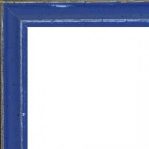 Bleu Marine Bords Usés