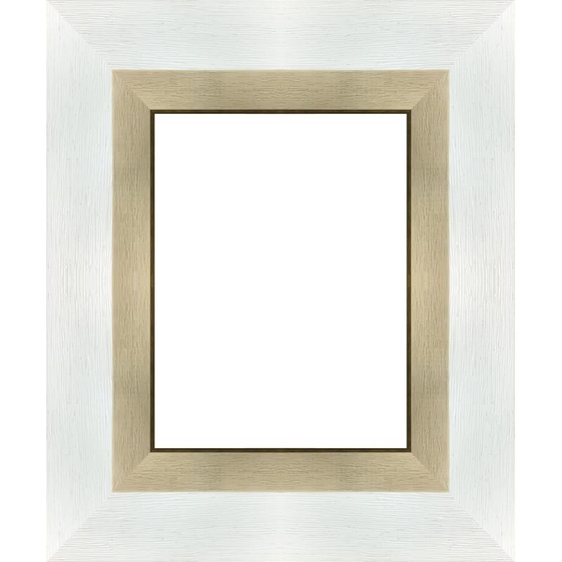 cadre blanc avec marie louise sur cadre toile. Black Bedroom Furniture Sets. Home Design Ideas
