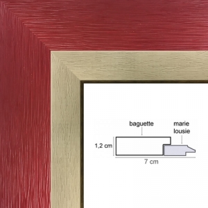 cadre rouge avec marie louise vos mesures sur cadre. Black Bedroom Furniture Sets. Home Design Ideas