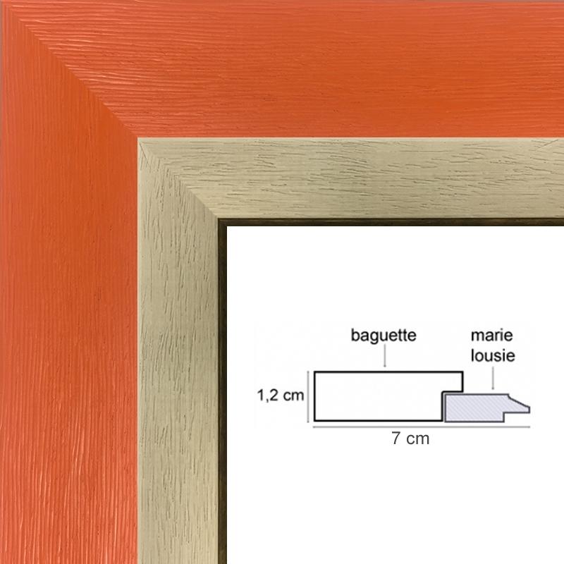 encadrement orange sur mesure avec marie louise cadre toile. Black Bedroom Furniture Sets. Home Design Ideas