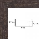 Encadrement plat Marron Foncé 4 cm