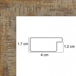 Encadrement plat Marron Clair 4 cm