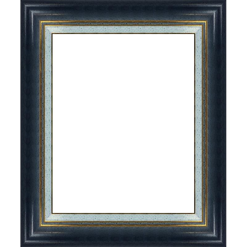 cadre bleu avec marie louise cadre pour peinture sur mesure. Black Bedroom Furniture Sets. Home Design Ideas