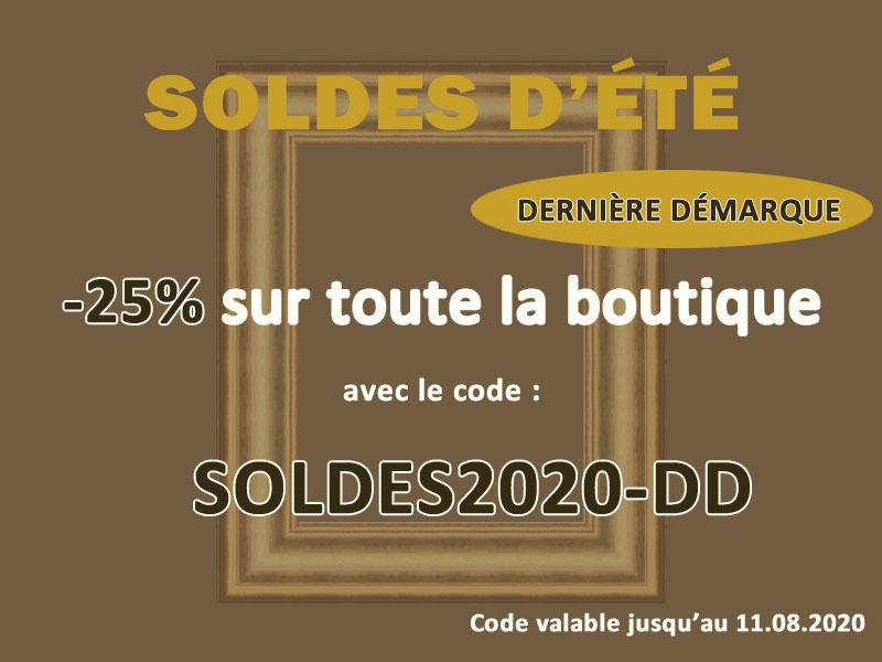 25% de remise pour la dernière démarque des soldes avec le code SOLDES2020-DD